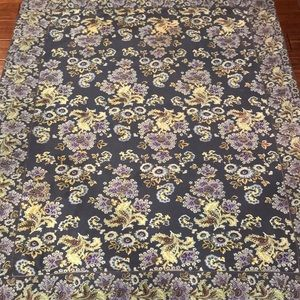 April Cornell Tablecloth Teals Good Cond 68 x 53""
